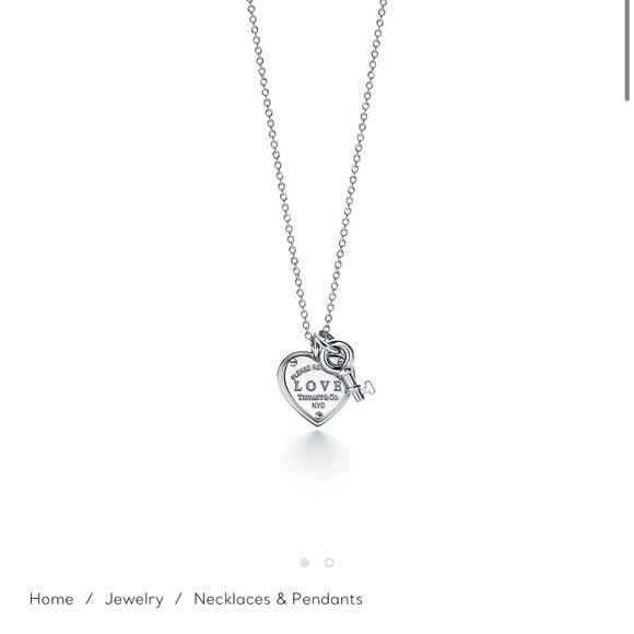 Tiffany Love Heart Tag Key Necklace